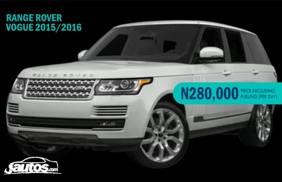 RANGE ROVER VOGUE 2015/2016- N280,000 (AMOUNT PER DAY WITHOUT FUELING)