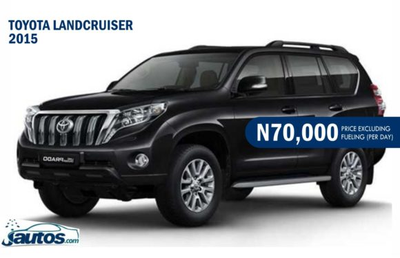 TOYOTA LANDCRUISER 2015- N70,000 (AMOUNT PER DAY WITHOUT FUELING)