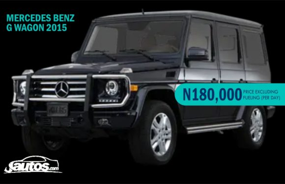 MERCEDES BENZ G WAGON 2015- N180,000 (AMOUNT PER DAY WITHOUT FUELING)