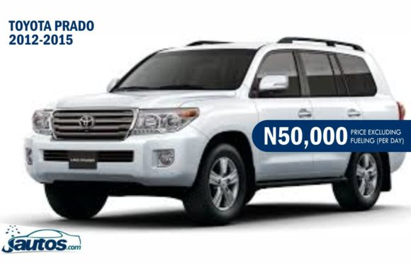 TOYOTA PRADO 2012-2015- N50,000 (AMOUNT PER DAY WITHOUT FUELING)