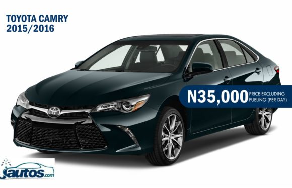 Toyota Camry 2015/2016- - N32,000 (AMOUNT PER DAY WITHOUT FUELING