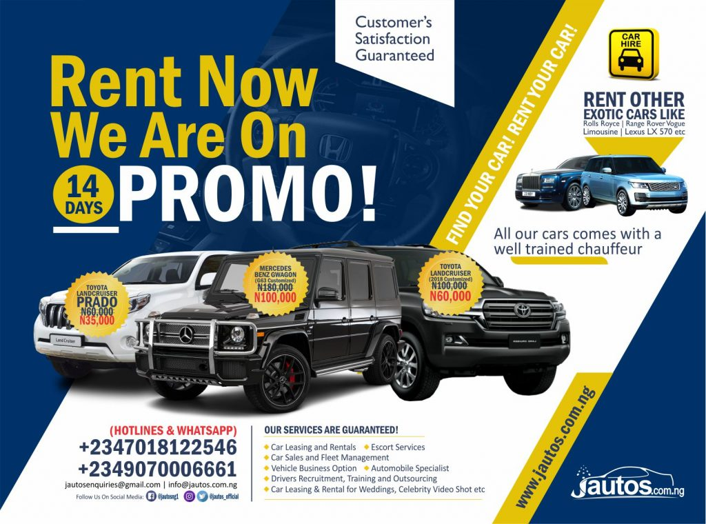 WOO!!! Get 40% Off Jautos Car Rent Prices for the Next 14 Days